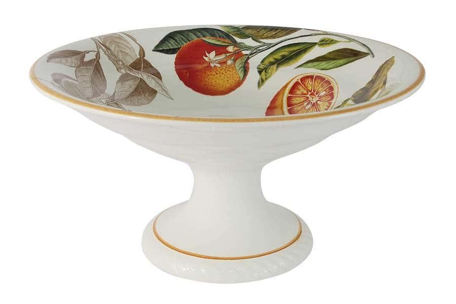 Ваза для фруктов на ножке Апельсины LCS Италия