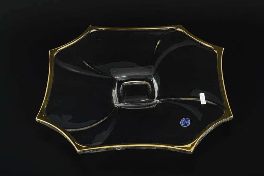R-G Нептун Тарелка стеклянная Bohemia Чехия 33 см