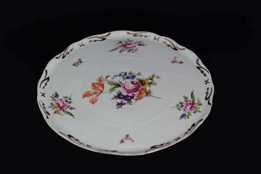 Полевой цветок Тарелка для торта Королевская Корона 28 см