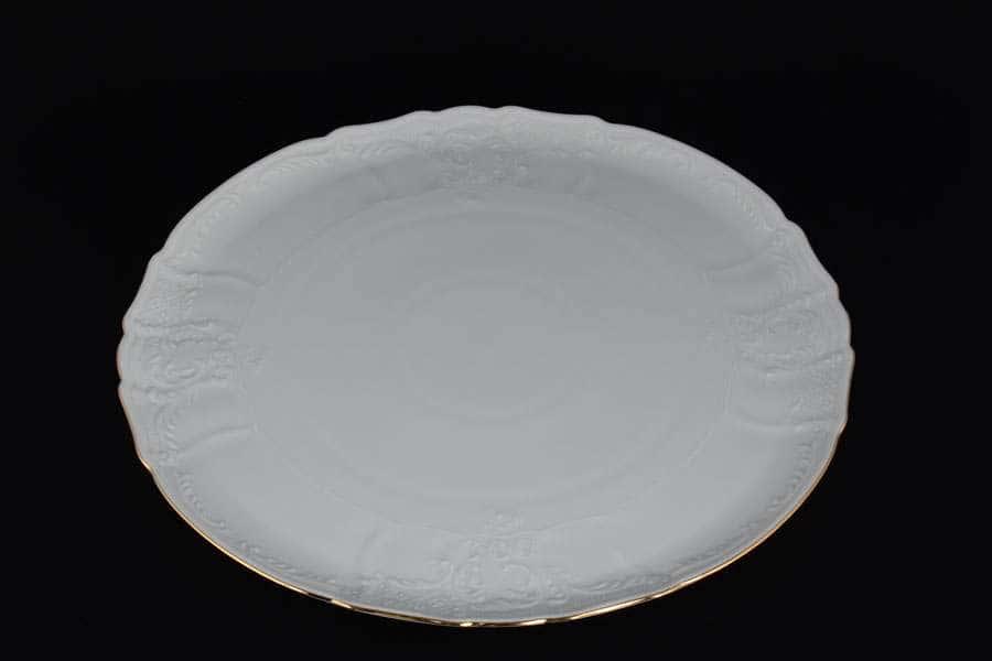 Бернадотт Белый узор Тарелка для торта 32 см