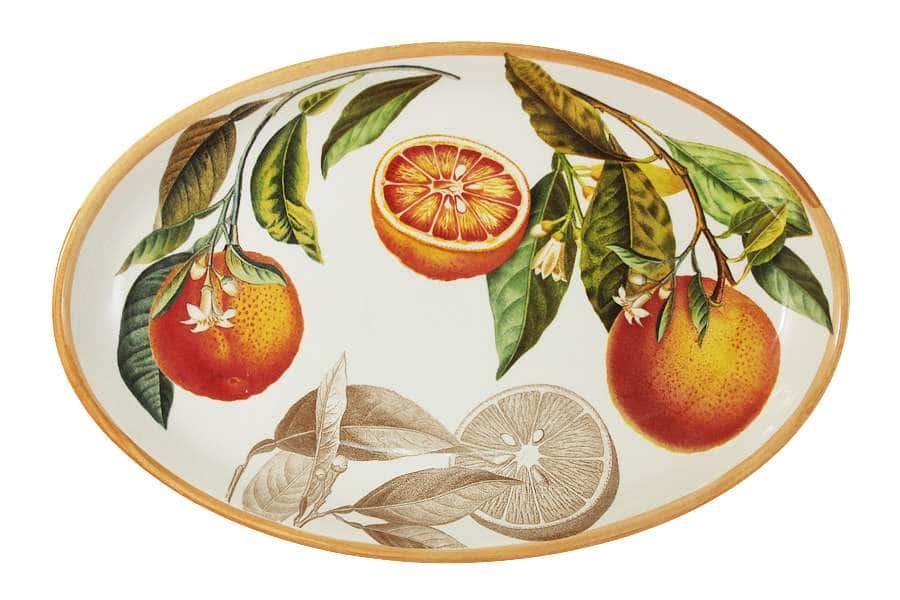Блюдо овальное Апельсины LCS Италия