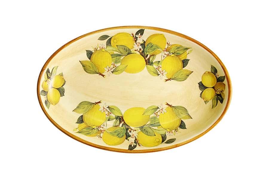 Блюдо овальное Итальянские лимоны LCS Италия