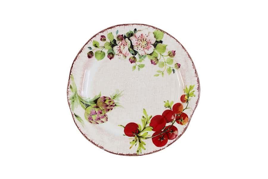 Тарелка закусочная Овощное ассорти
