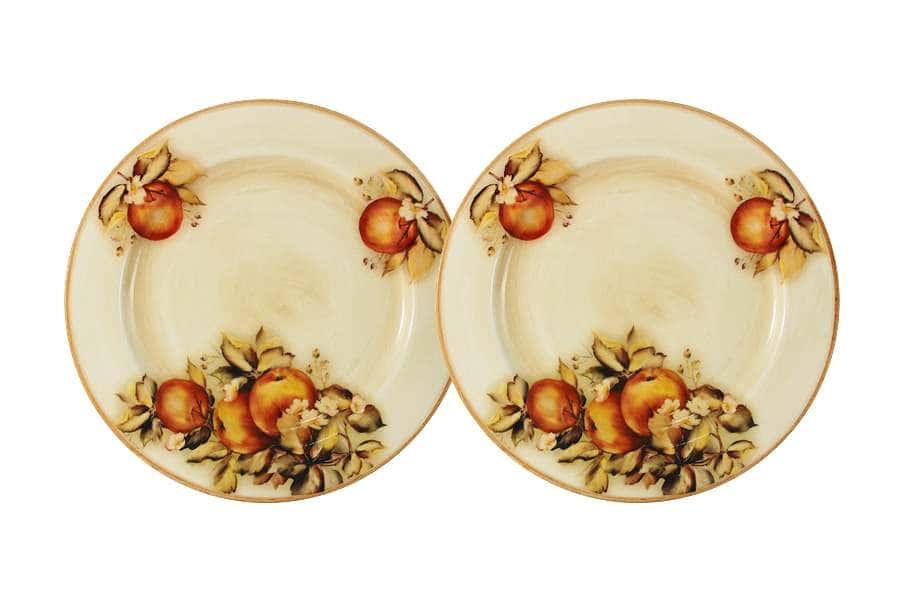 Набор из 2-х десертных тарелок Зимние яблоки