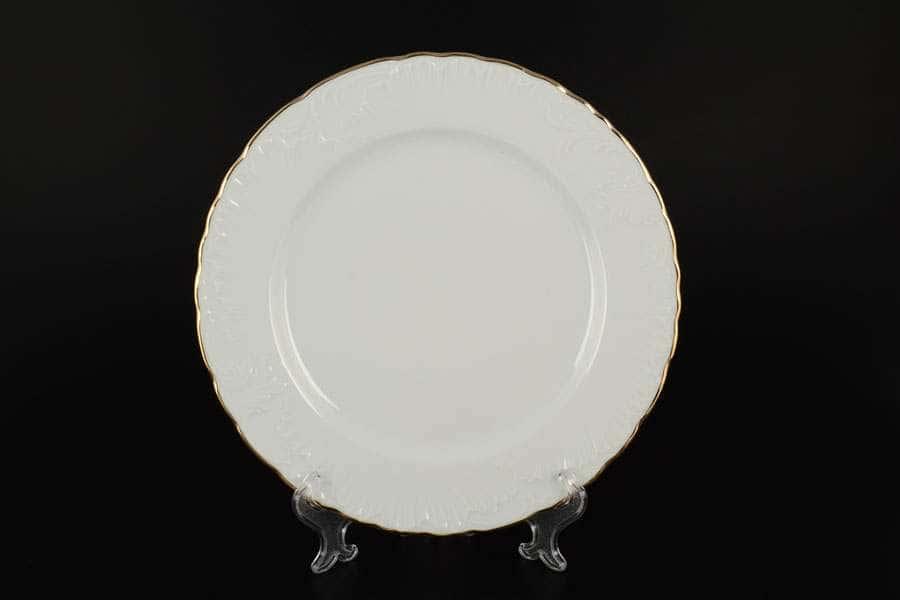 Рококо Отводка золото Набор тарелок Royal Czech Porcelain 25 см