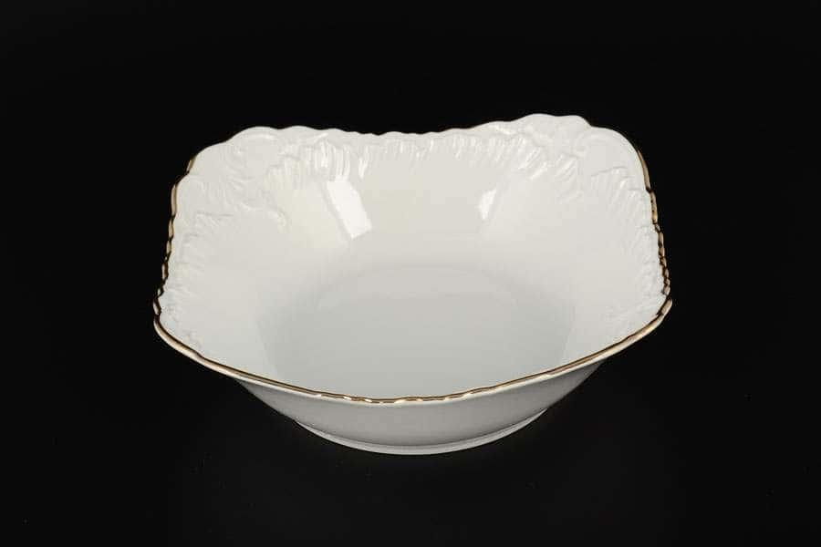 Рококо Отводка золото Набор салатников Royal Czech Porcelain 19 см