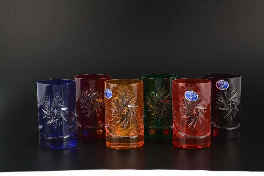 R-G Цветной хрусталь Набор стаканов для воды Bohemia 150 мл