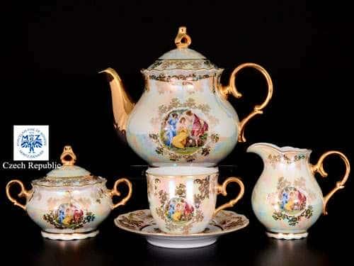 Офелия Мадонна перламутр Чайный сервиз MZ на 6 персон 17 предметов