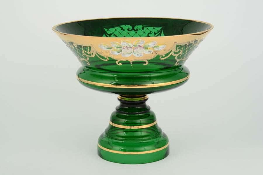 Лепка зеленая S-A Ваза для фруктов Bohemia 26 см