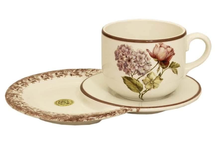 Чашка 0,5 л на маленьком подносе Сады Флоренции