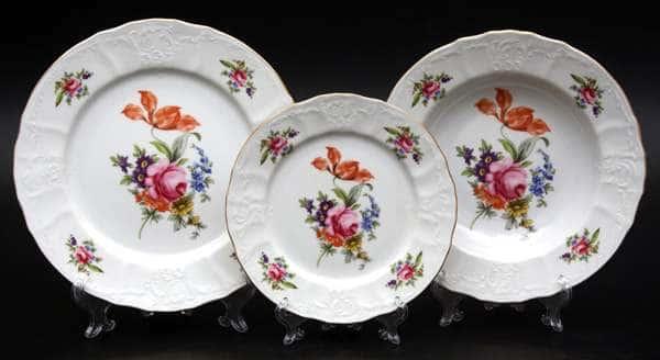 Полевой цветок 5309011 Набор тарелок Thun 18 шт. на 6 перс.