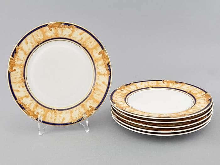 Набор тарелок десертных 6шт 19см Сабина Мрамор Кобальт