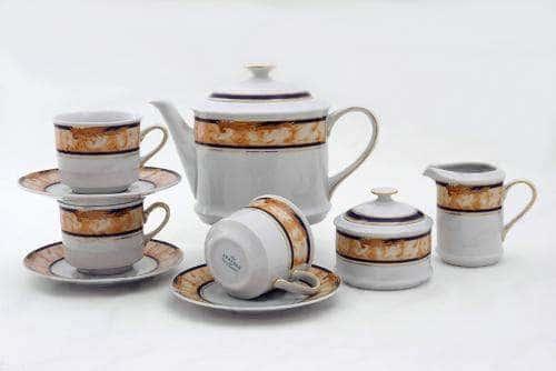 Сервиз чайный 15предм. Сабина Мрамор Кобальт
