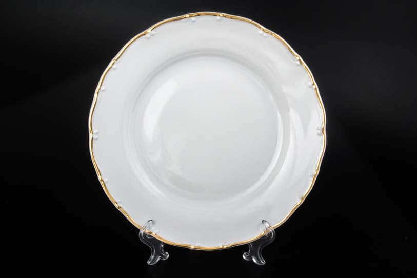 Офелия Отводка золото Набор тарелок MZ 19 см