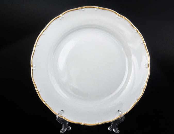 Офелия Отводка золото Набор тарелок MZ 25 см