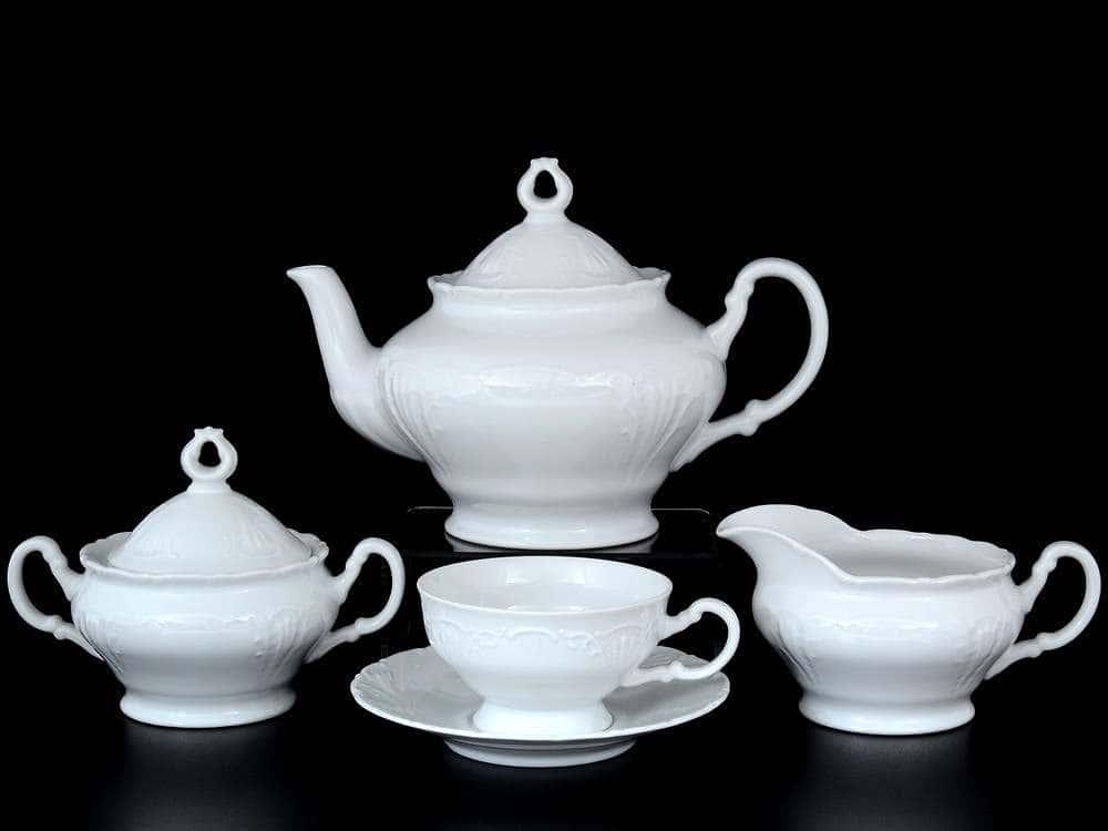 Лиана Недекорированный Чайный сервиз MZ на 6 персон 17 предметов
