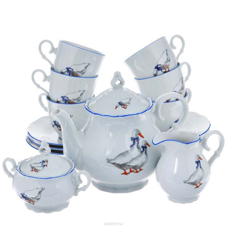 Офелия Гуси Чайный сервиз MZ на 6 персон 17 предметов