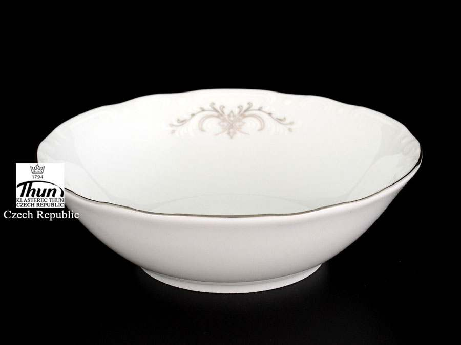 Констанция Серый орнамент Отводка платина Набор салатников Thun 13 см