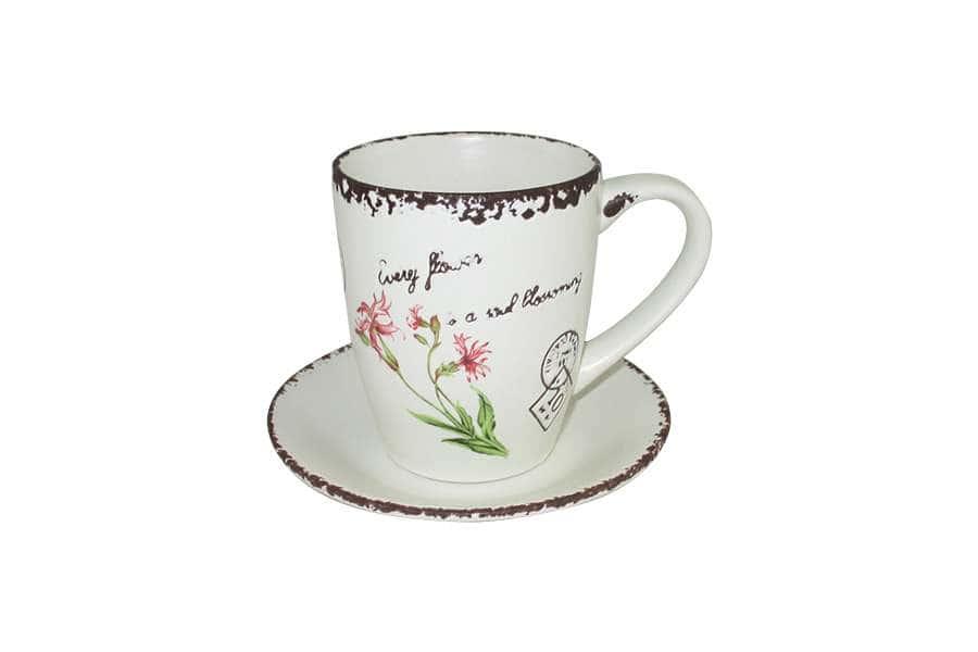 Чашка с блюдцем Воспоминания LF Ceramic Китай