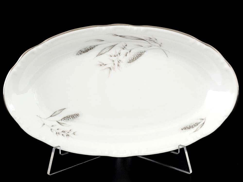 Констанция Серебряные колосья Блюдо овальное Thun 21 см