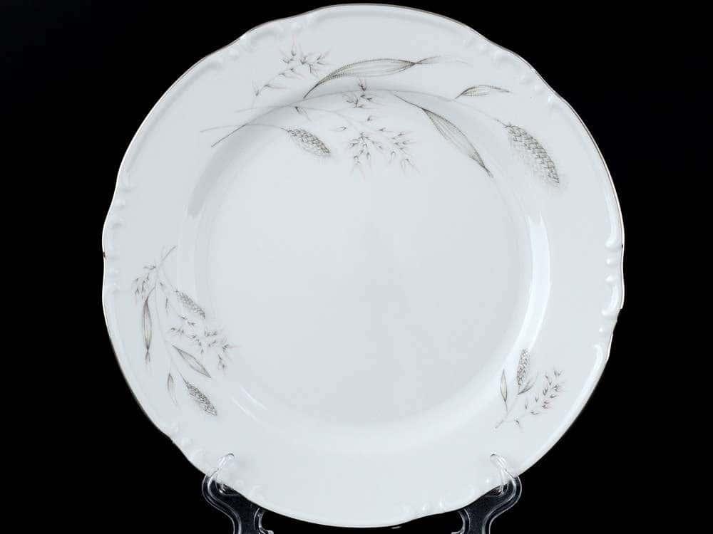 Констанция Серебряные колосья Набор тарелок Thun 24 см