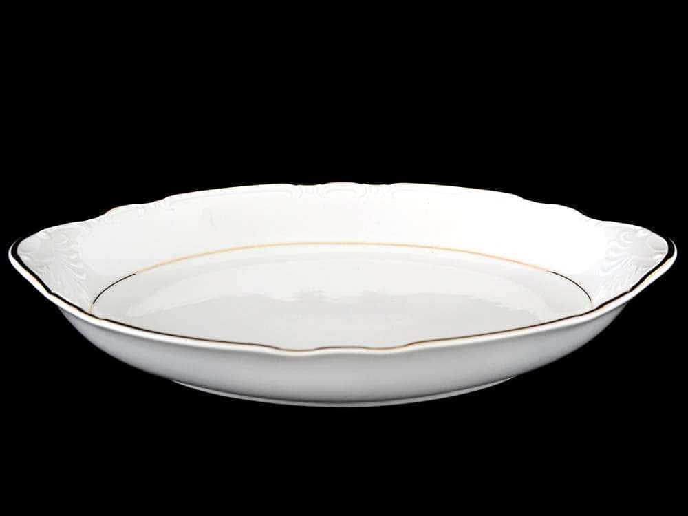 Констанция Отводка золото Блюдо для хлеба Thun 33 см