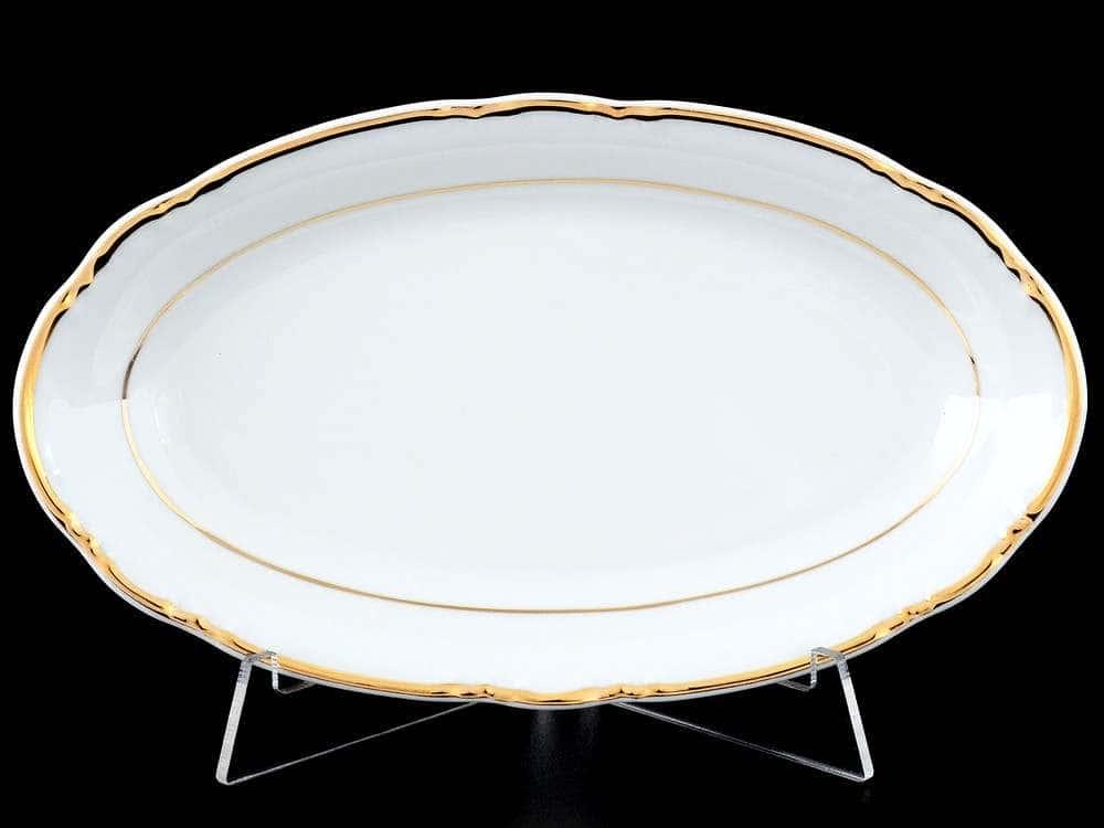 Констанция Отводка золото Блюдо овальное Thun 21 см