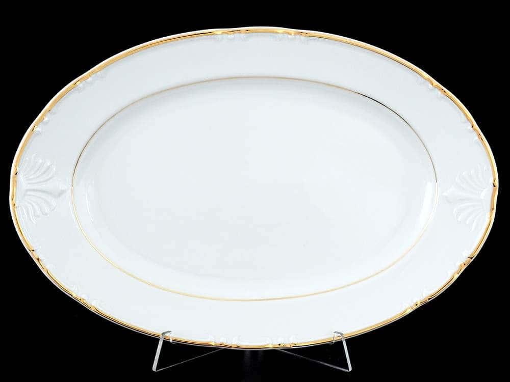 Констанция Отводка золото Блюдо овальное Thun 32 см