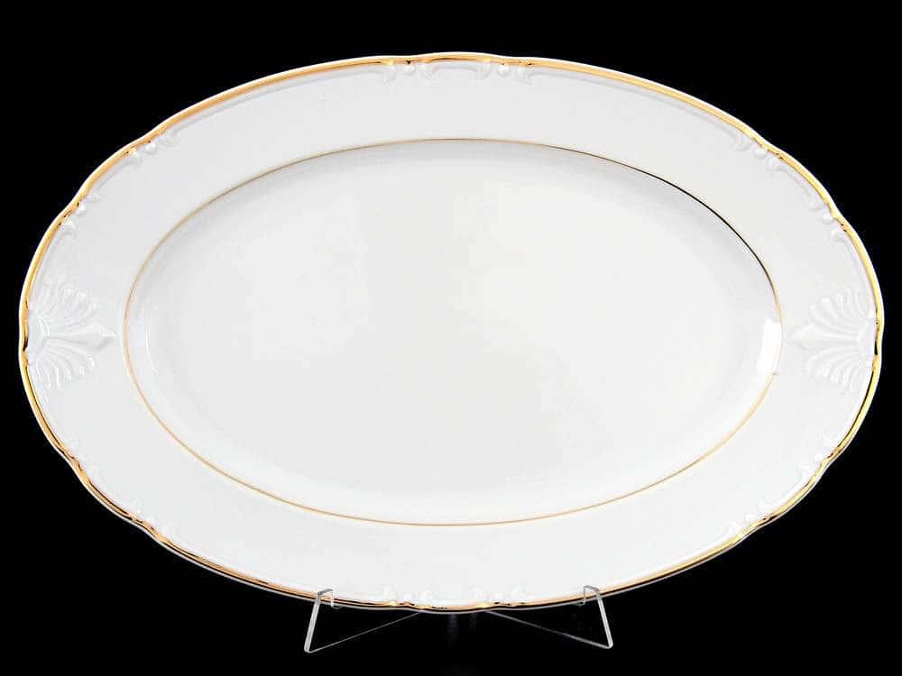 Блюдо овальное 36 см Констанция Отводка золото