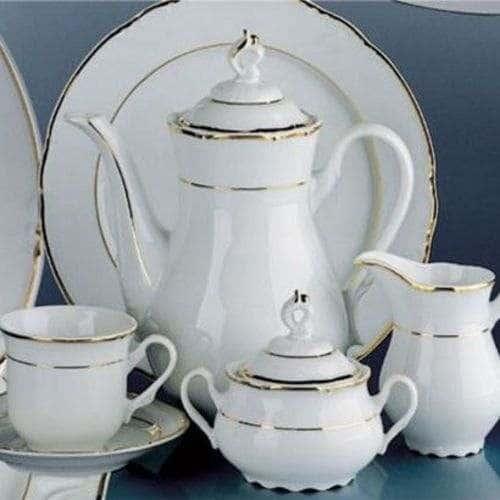 Констанция Отводка золото Кофейный сервиз Thun на 6 персон 17 предметов