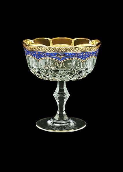 Варенница ваза для варенья Опера Империя 12 см синяя