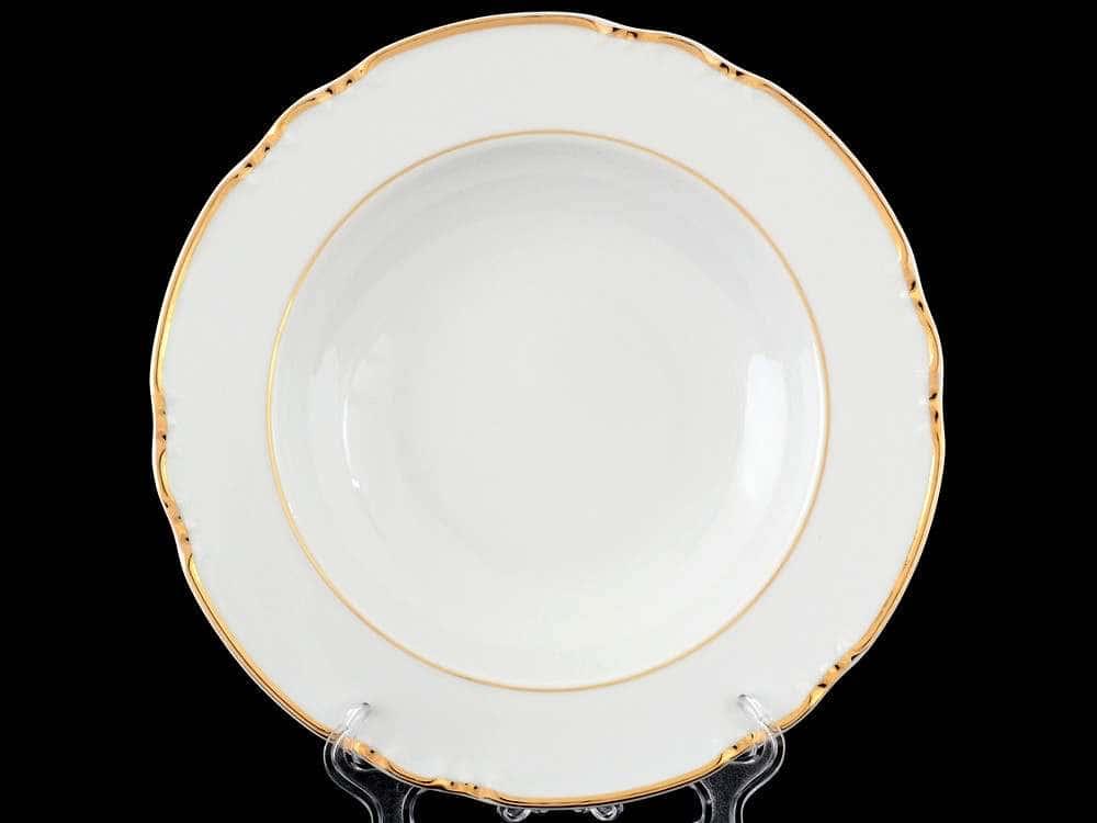 Констанция Отводка золото Набор тарелок глубоких Thun 23 см