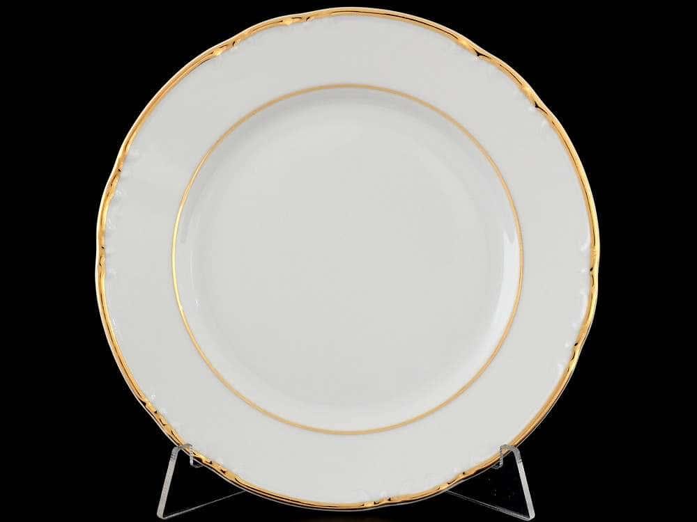 Констанция Отводка золото Набор тарелок Thun 17 см