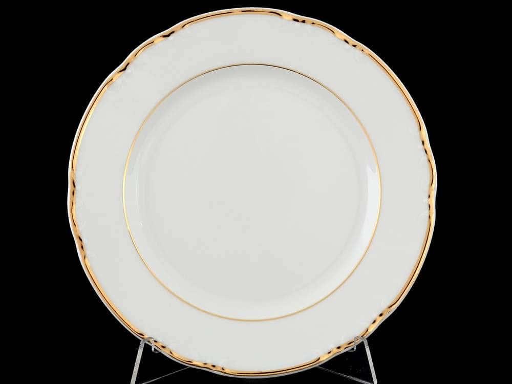 Констанция Отводка золото Набор тарелок Thun 19 см