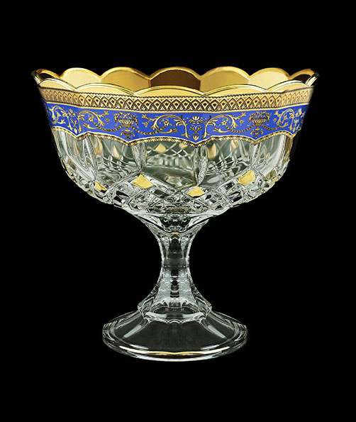 Ваза для конфет Опера Империя 18 см синяя 29374