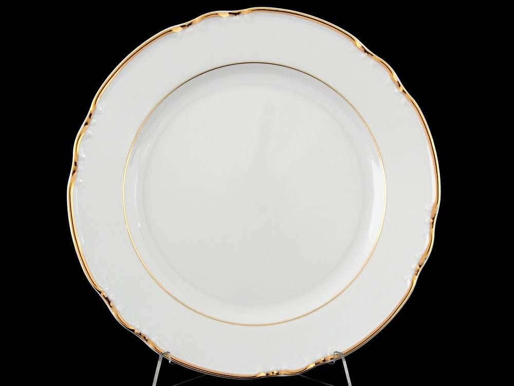 Констанция Отводка золото Набор тарелок Thun 24 см