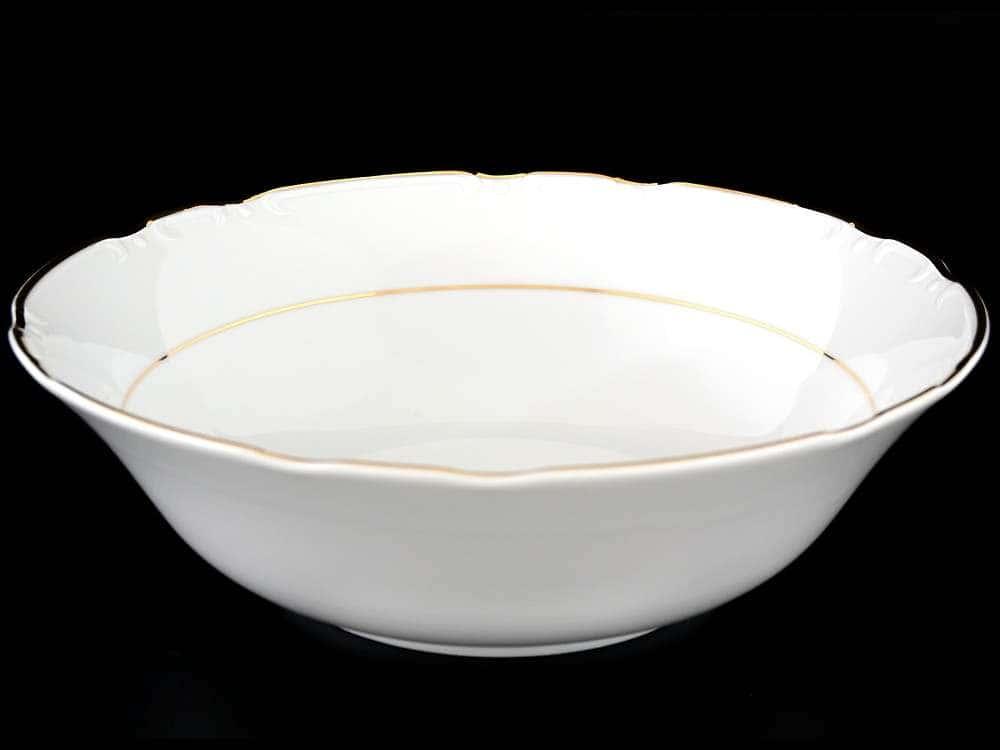Констанция Отводка золото Салатник круглый Thun 25 см