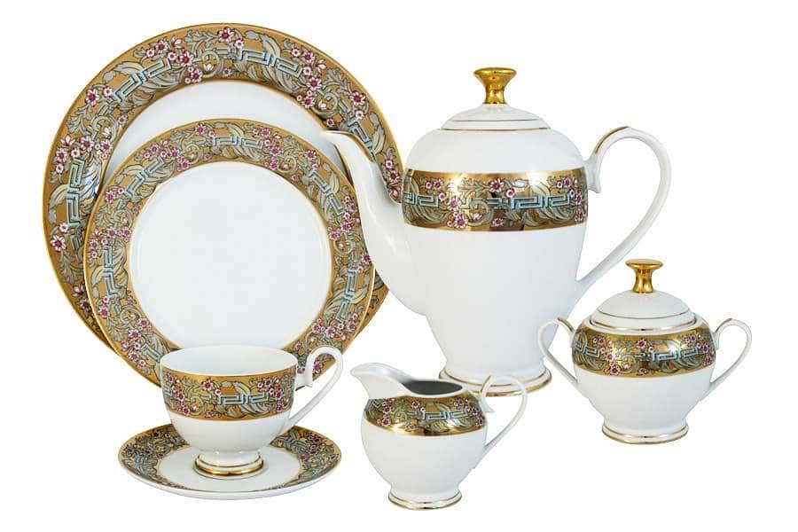 Чайный сервиз Розовый берег 42 предмета на 12 персон Midori Китай