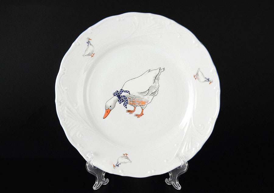 Лиана Гуси Набор тарелок MZ 25 см