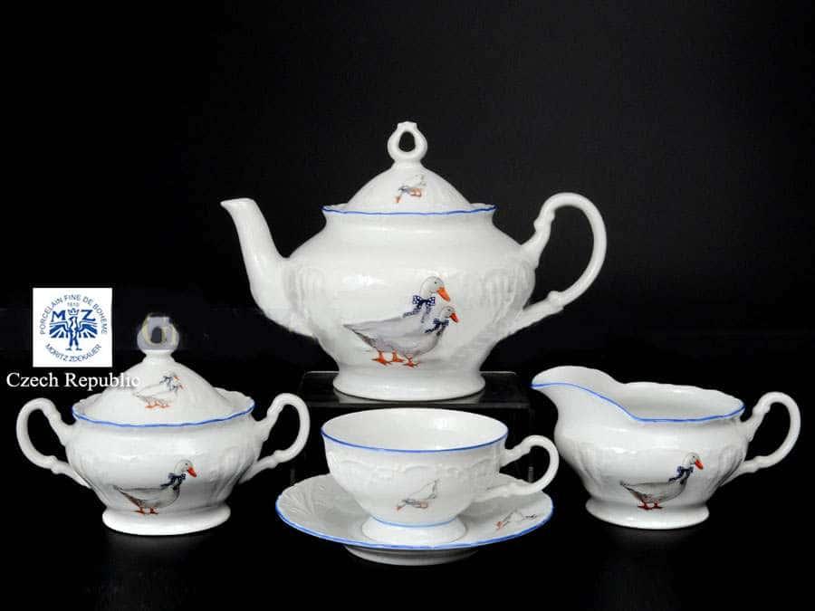 Лиана Гуси Чайный сервиз MZ на 6 персон 17 предметов