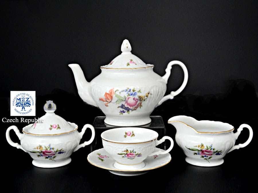Лиана Полевой цветок Чайный сервиз MZ на 6 персон 17 предметов