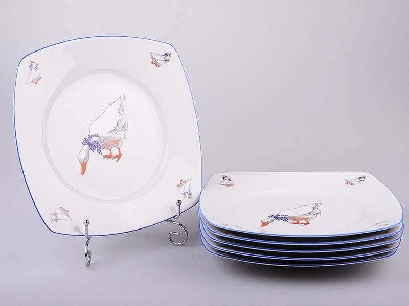 Тетра Гуси Набор тарелок из фарфора MZ 19 см