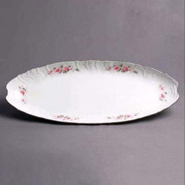 Бернадотт Серая роза золото Блюдо для рыбы 52 см 1675
