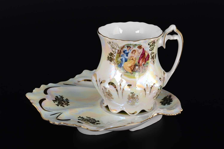 Мадонна Корона Чайная пара из чешского фарфора Queens Crown