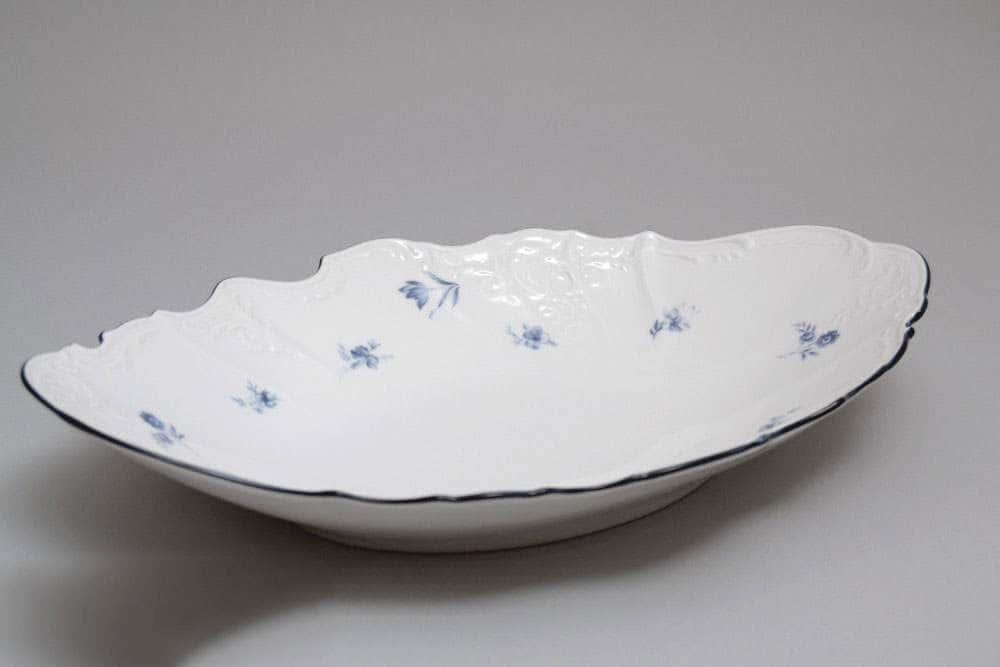 Бернадотт Синий цветок Блюдо для хлеба 34 см
