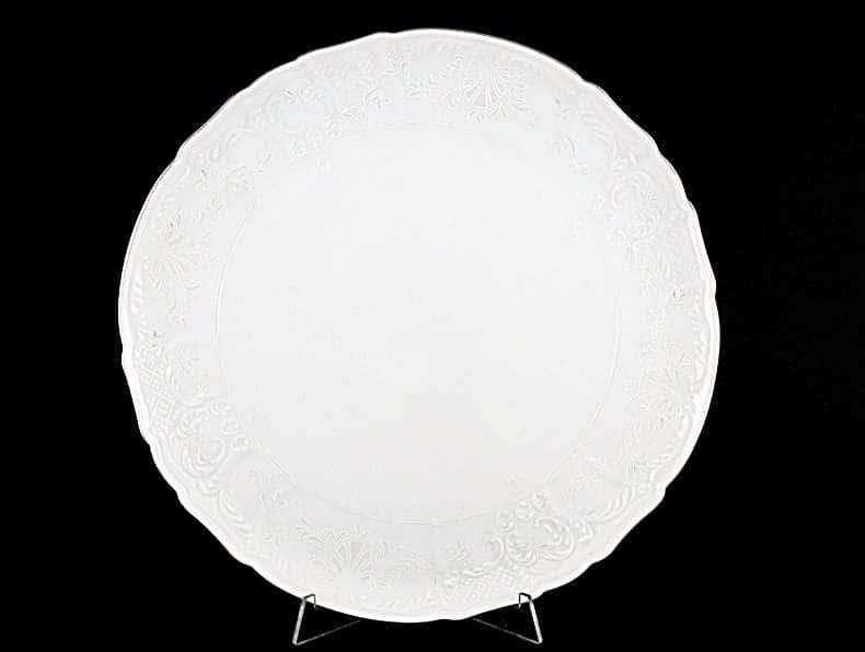 Бернадотт Платиновый узор Тарелка для торта 32 см
