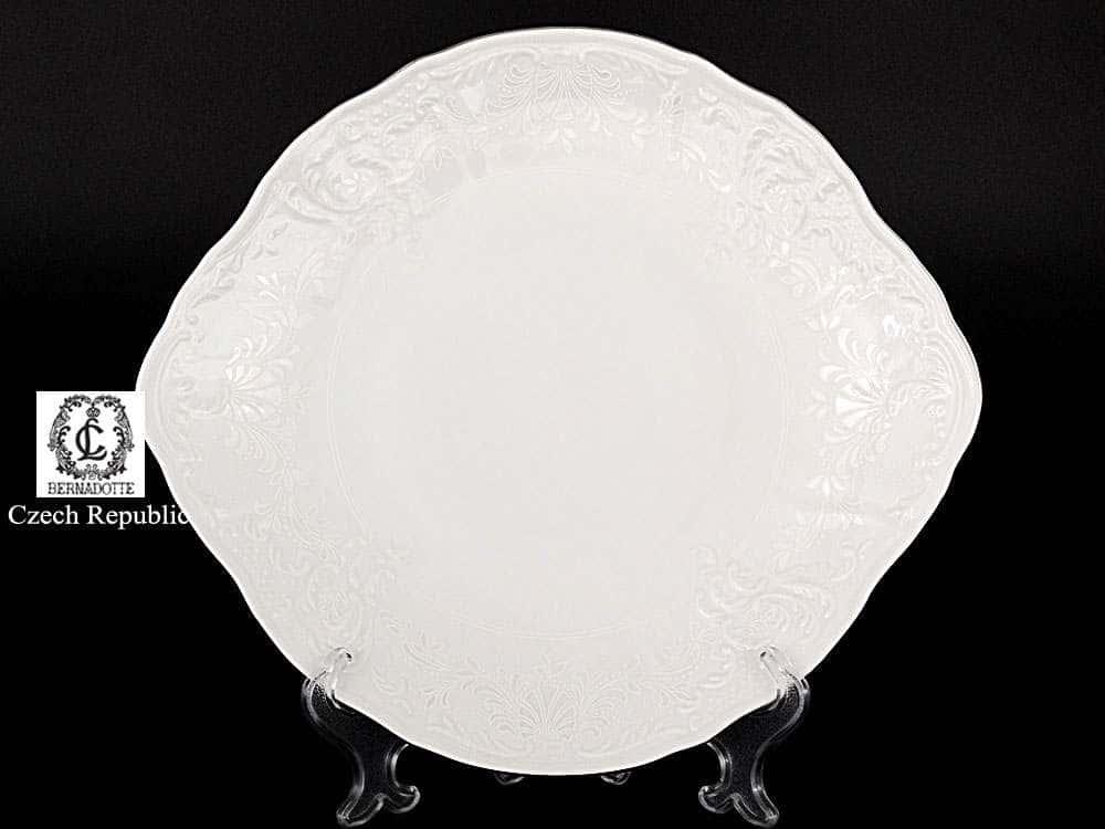 Бернадотт Платиновый узор Тарелка для торта 27 см