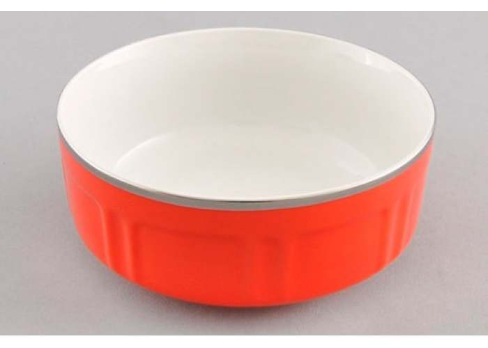 Мэри-Энн, красное блюдо для завтрака Леандер 12,5 см из фарфора