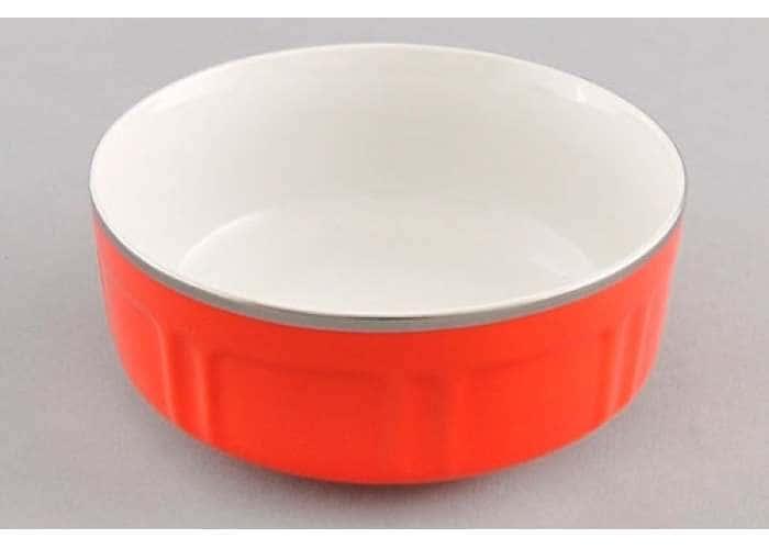 Мэри-Энн, красное блюдо для завтрака Леандер 15,5 см из фарфора
