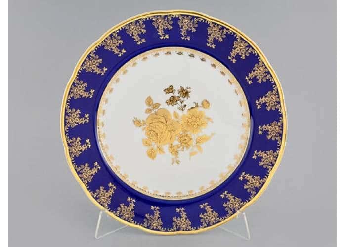 Блюдо круглое мелкое 30 см,Мэри-Энн,Золотая роза